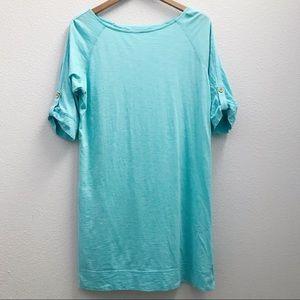 Lilly Pulitzer Pima cotton aqua dress large